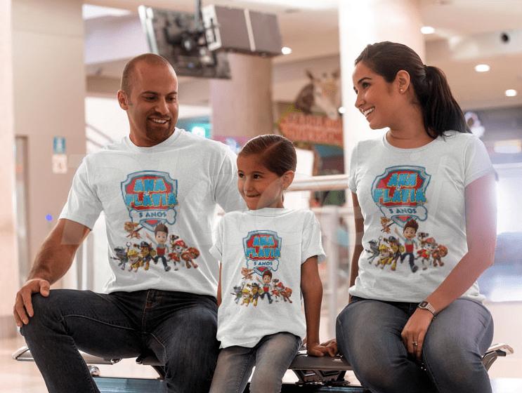 Camisetas Políester Personalizadas P/ Toda Família  - PLACT ZUM