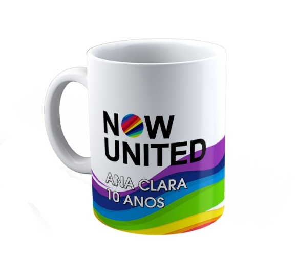 Caneca Polímero Festa Now United Lembrancinha Kit com 40  - PLACT ZUM