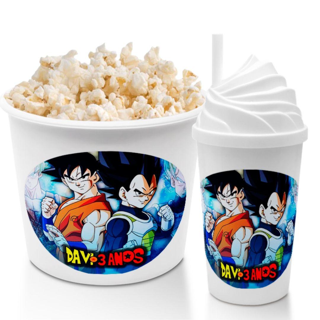 Kit Cineminha Festa Dragon Ball Balde Copo Lembrancinha  - PLACT ZUM
