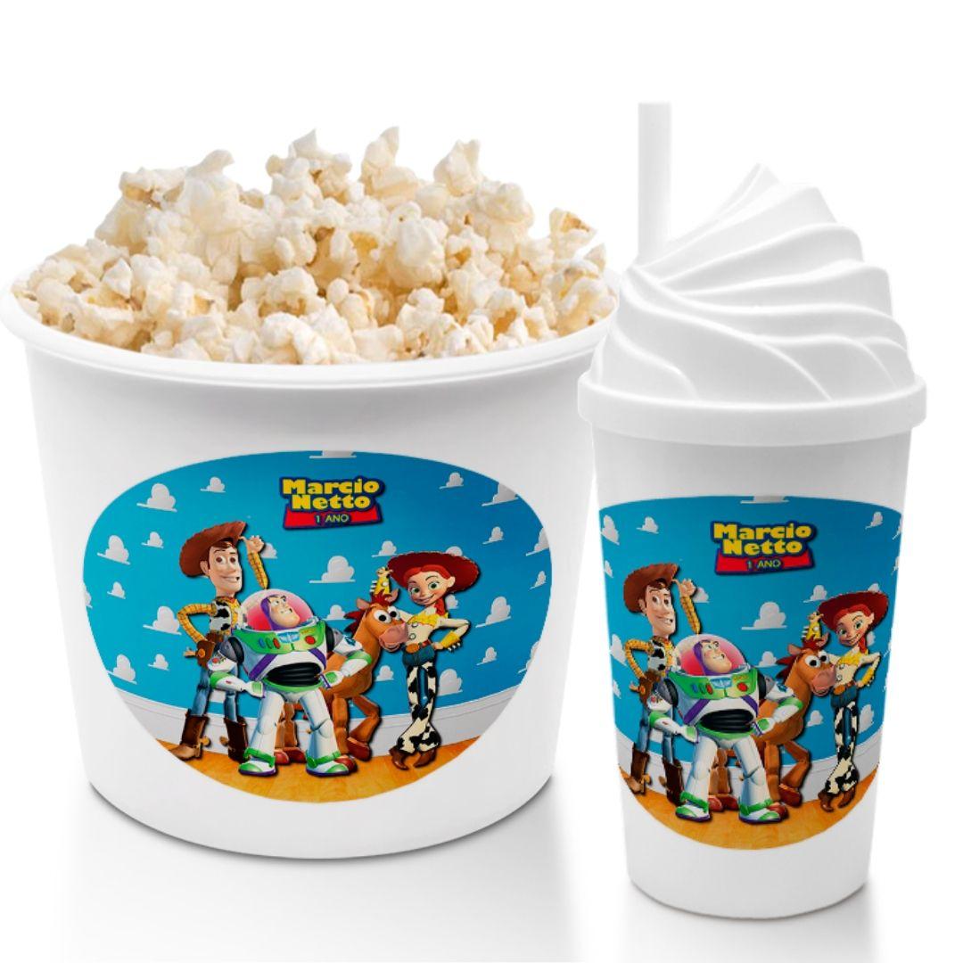 Kit Cineminha Festa Toy Story Balde Copo Lembrancinha  - PLACT ZUM