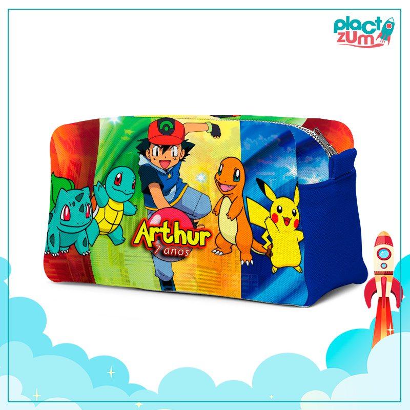 Estojo Necessaire Festa Pokemon Lembrancinha  - PLACT ZUM