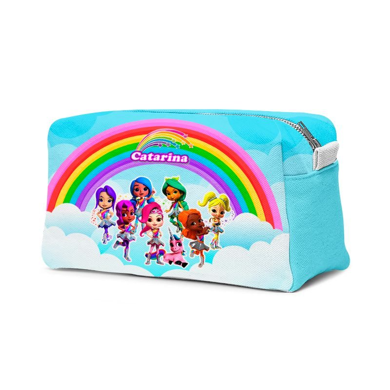 Estojo Necessaire Festa Rainbow Rangers Lembrancinha  - PLACT ZUM