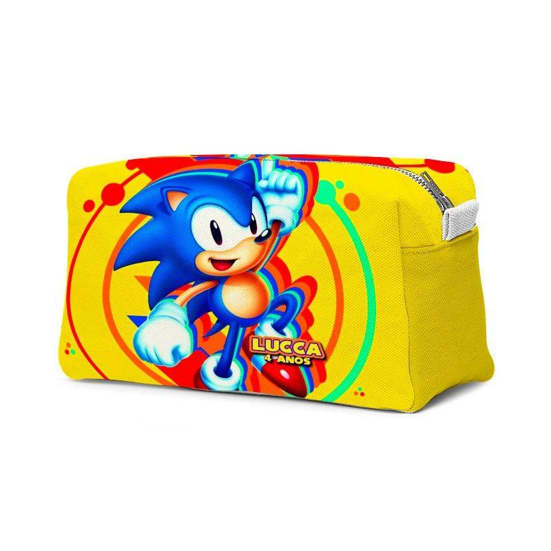 Estojo Necessaire Festa Sonic Lembrancinha  - PLACT ZUM