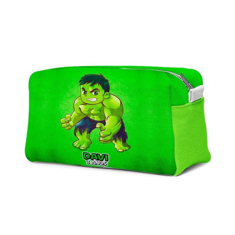 Estojo Necessaire Festa Hulk Lembrancinha  - PLACT ZUM