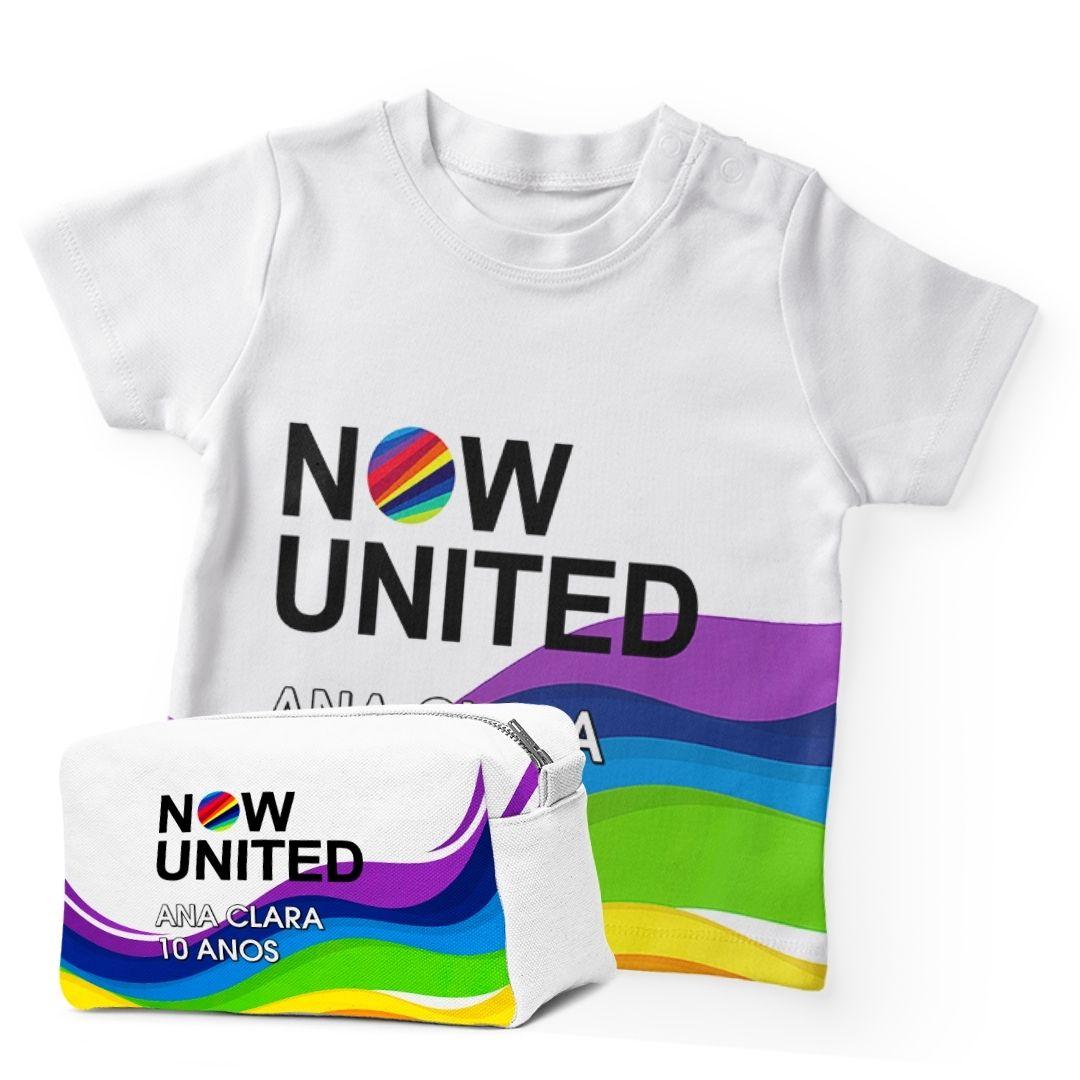Kit Camiseta Festa Now United Lembrancinha Kit com 40  - PLACT ZUM