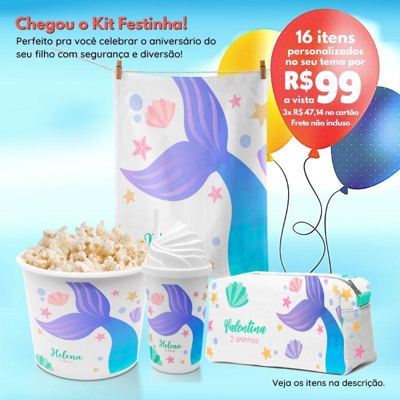 Kit Mini Festinha Sereia   - PLACT ZUM