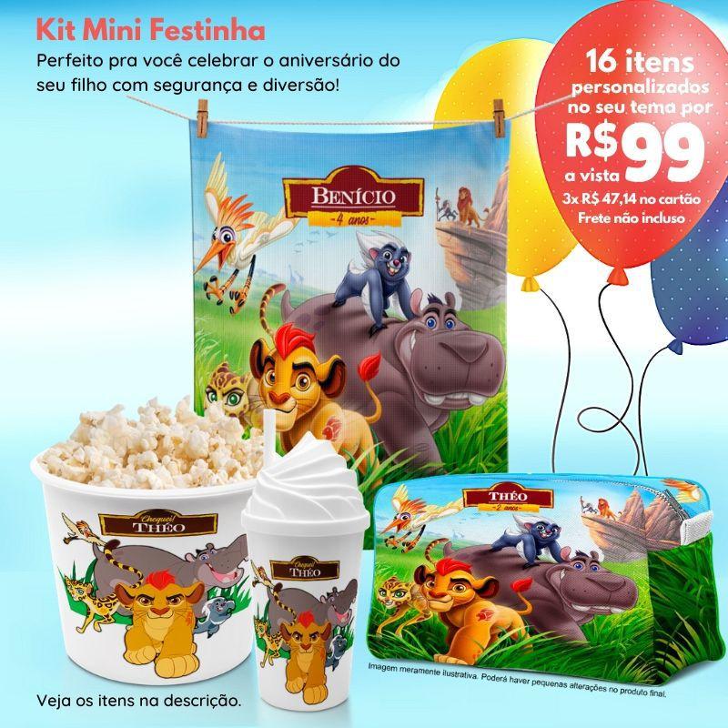 Kit Mini Festinha da Guarda do Rei Leão  - PLACT ZUM