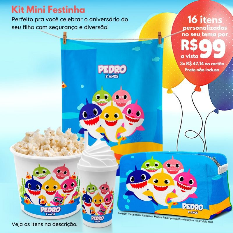 Kit Mini Festinha do Baby Shark  - PLACT ZUM