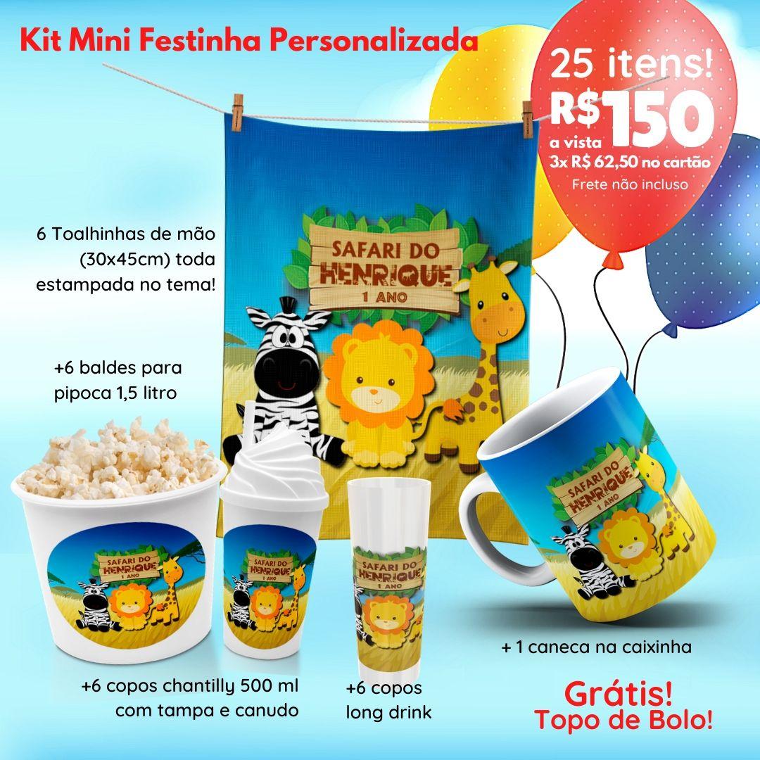 Mini Festinha Safari Personalizada  - PLACT ZUM