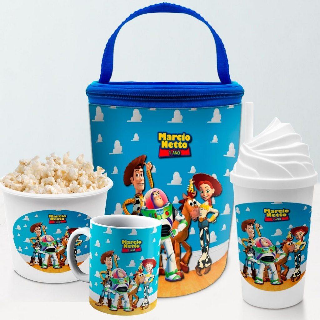 Kit Presente Festa Toy Story Frasqueira Balde Copo Caneca  - PLACT ZUM