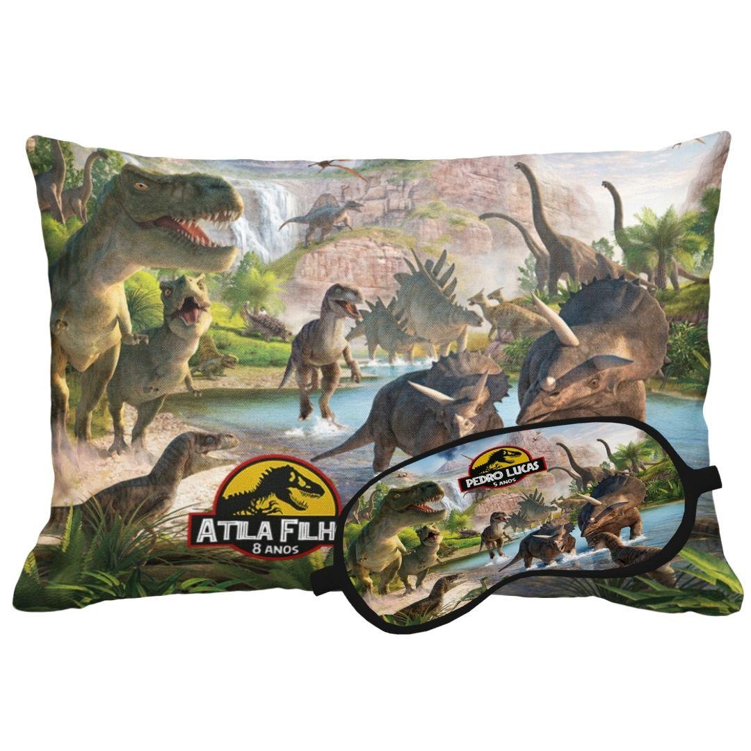 Kit Soninho Dinossauros Almofada E Máscara Para Dormir Personalizados  - PLACT ZUM