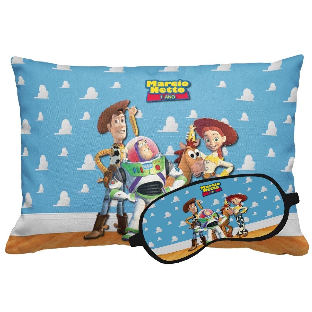 Kit Soninho Festa Toy Story Almofada Máscara Lembrancinha  - PLACT ZUM