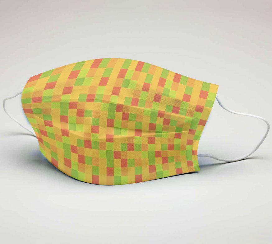 Mascara de Tecido Tactel Dupla Camada Reutilizável  ref. Pixels  - PLACT ZUM