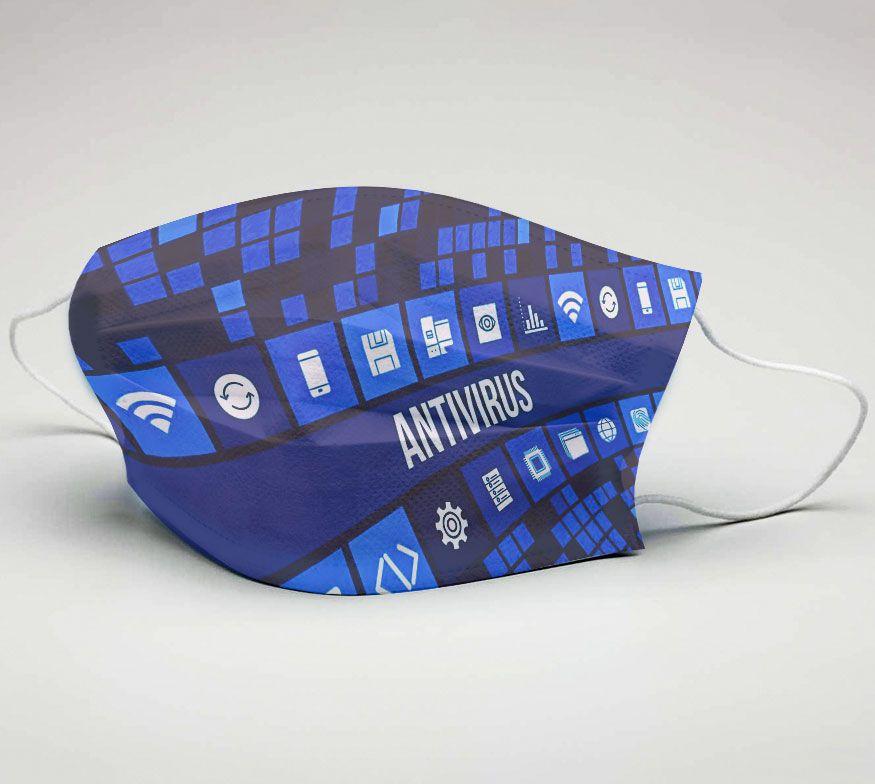 Mascara de Tecido Tactel Dupla Camada Reutilizável  ref. Antivirus  - PLACT ZUM