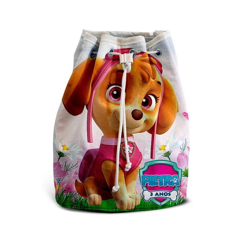Mochila de Mão Festa Patrulha Canina Skye Lembrancinha  - PLACT ZUM