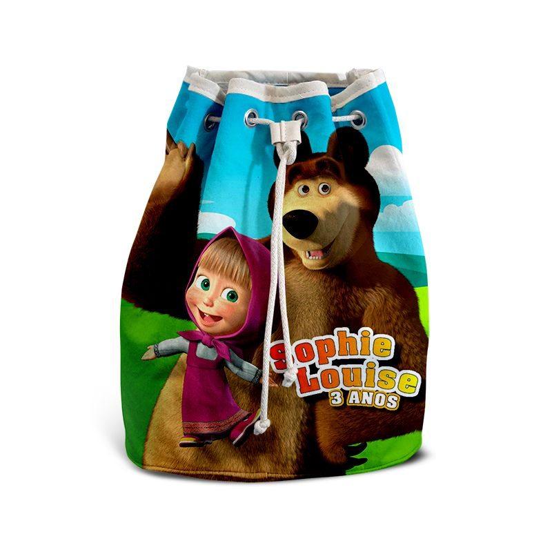 Mochila de Mão Festa Masha E O Urso Lembrancinha  - PLACT ZUM