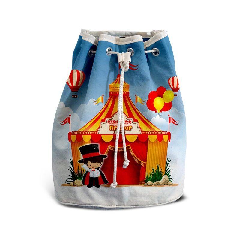 Mochila de Mão Festa Circo Lembrancinha Aniversário  - PLACT ZUM
