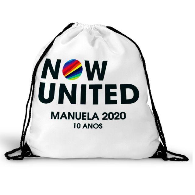 Mochila Saco Festa Now United Lembrancinha  - PLACT ZUM