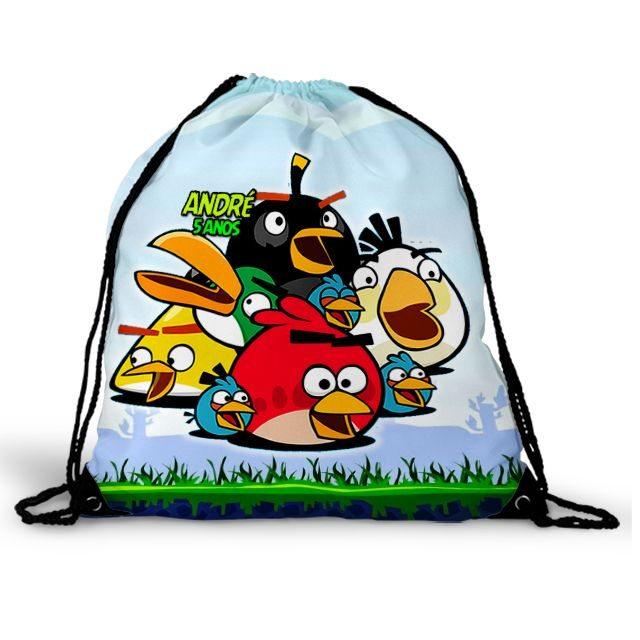 Mochila Saco Festa Angry Birds Lembrancinha  - PLACT ZUM