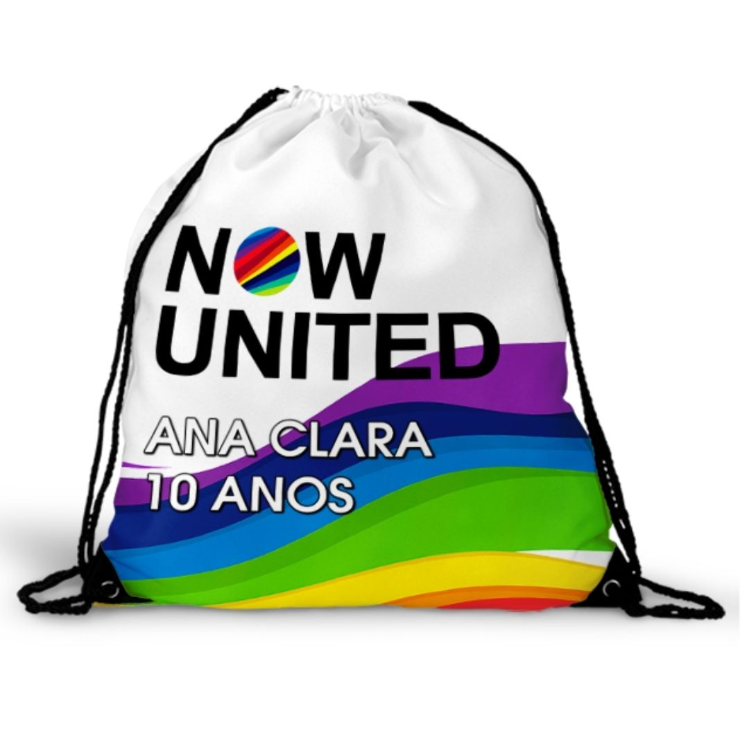 Mochila Saco Festa Now United Lembrancinha Kit com 60  - PLACT ZUM