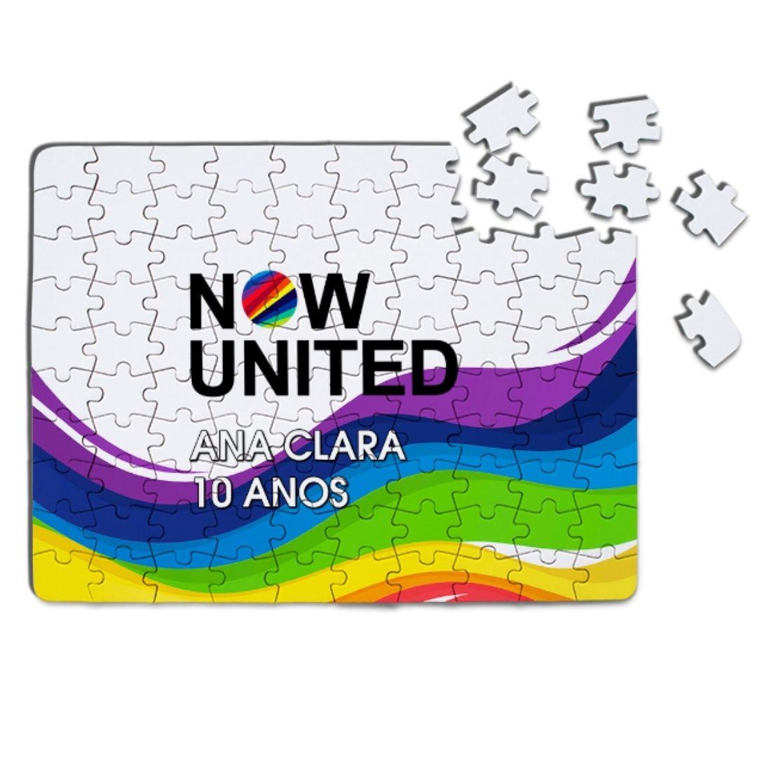 Quebra Cabeça Festa Now United Lembrancinha Kit com 80  - PLACT ZUM