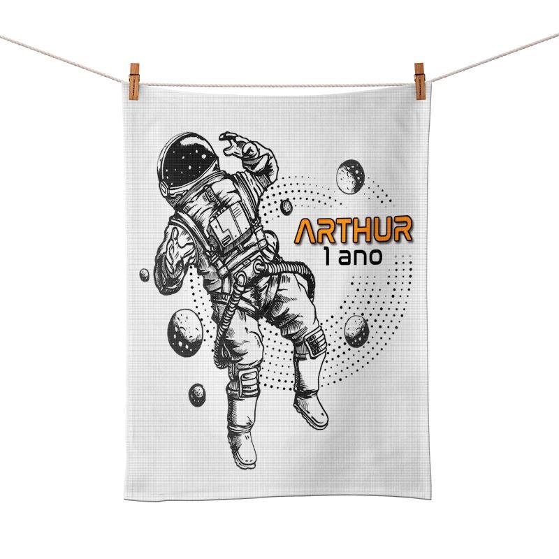 Toalhinha De Mão Astronauta Personalizada  - PLACT ZUM