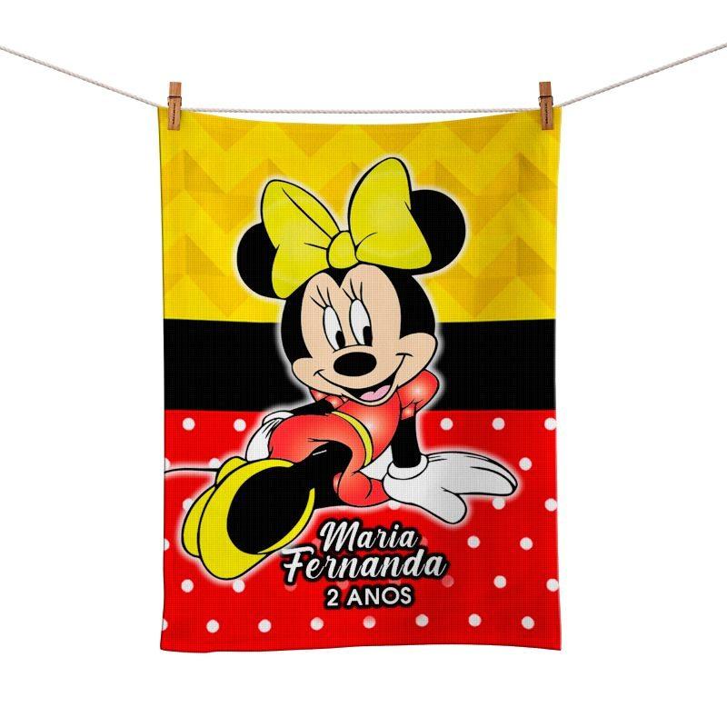 Toalhinha de Mão Festa Minnie Lembrancinha  - PLACT ZUM