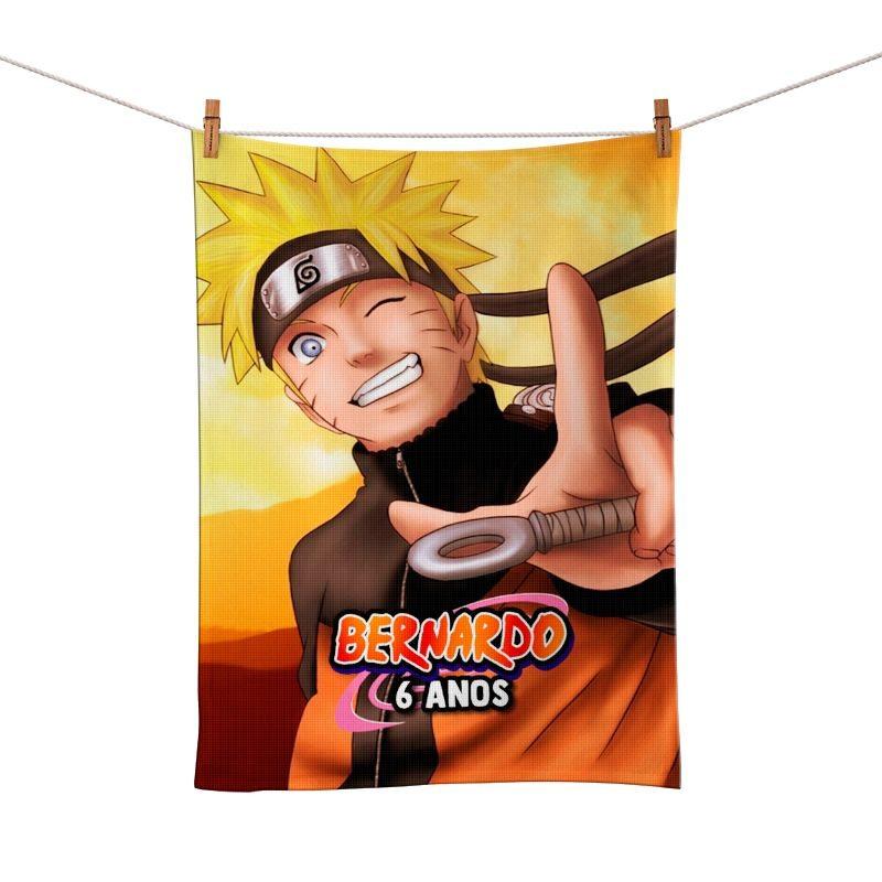 Toalhinha de Mão Festa Naruto Lembrancinha  - PLACT ZUM