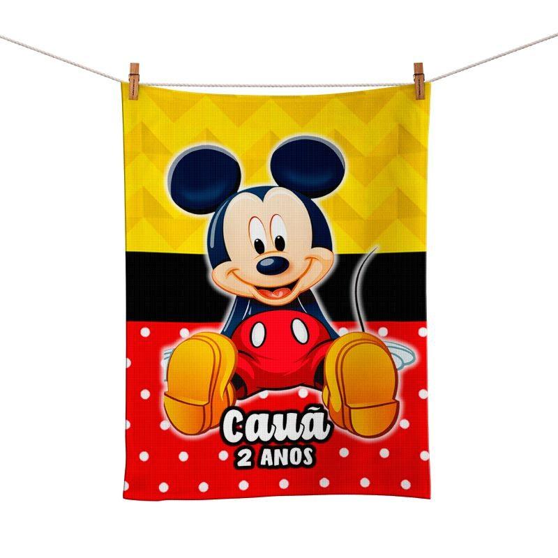 Toalhinha de Mão Festa Mickey Lembrancinha  - PLACT ZUM