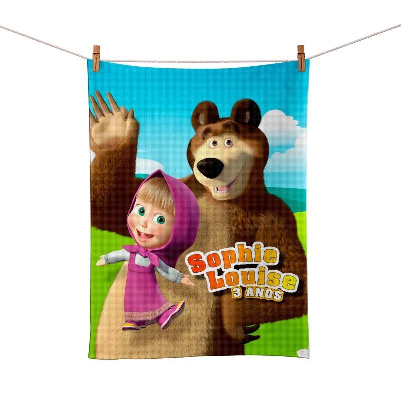 Toalhinha de Mão Festa Masha E O Urso Lembrancinha  - PLACT ZUM