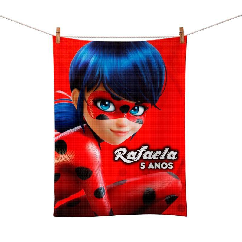 Toalhinha de Mão Festa Miraculous Ladybug Lembrancinha  - PLACT ZUM