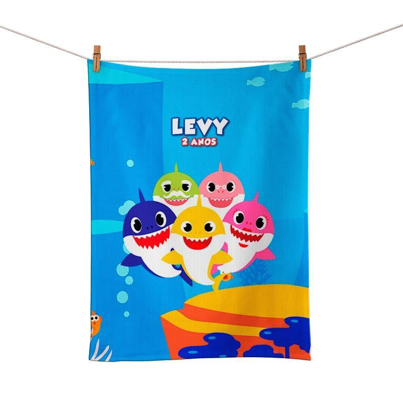 Toalhinha de Mão Festa Baby Shark Lembrancinha  - PLACT ZUM