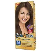 Coloração Creme Cor e Ton 5.3 Castanho Claro Dourado - Niely
