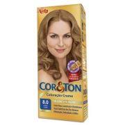 Coloração Creme Cor e Ton 8.0 Louro Claro - Niely