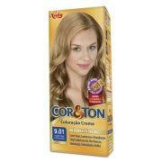 Coloração Creme Cor e Ton 9.01 Louro Cinza Extra Claro - Niely