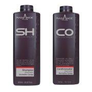 Kit Shampoo e Condicionador Matizador Radiance Plus Vermelho Cereja 850ml - S'oller Brasil