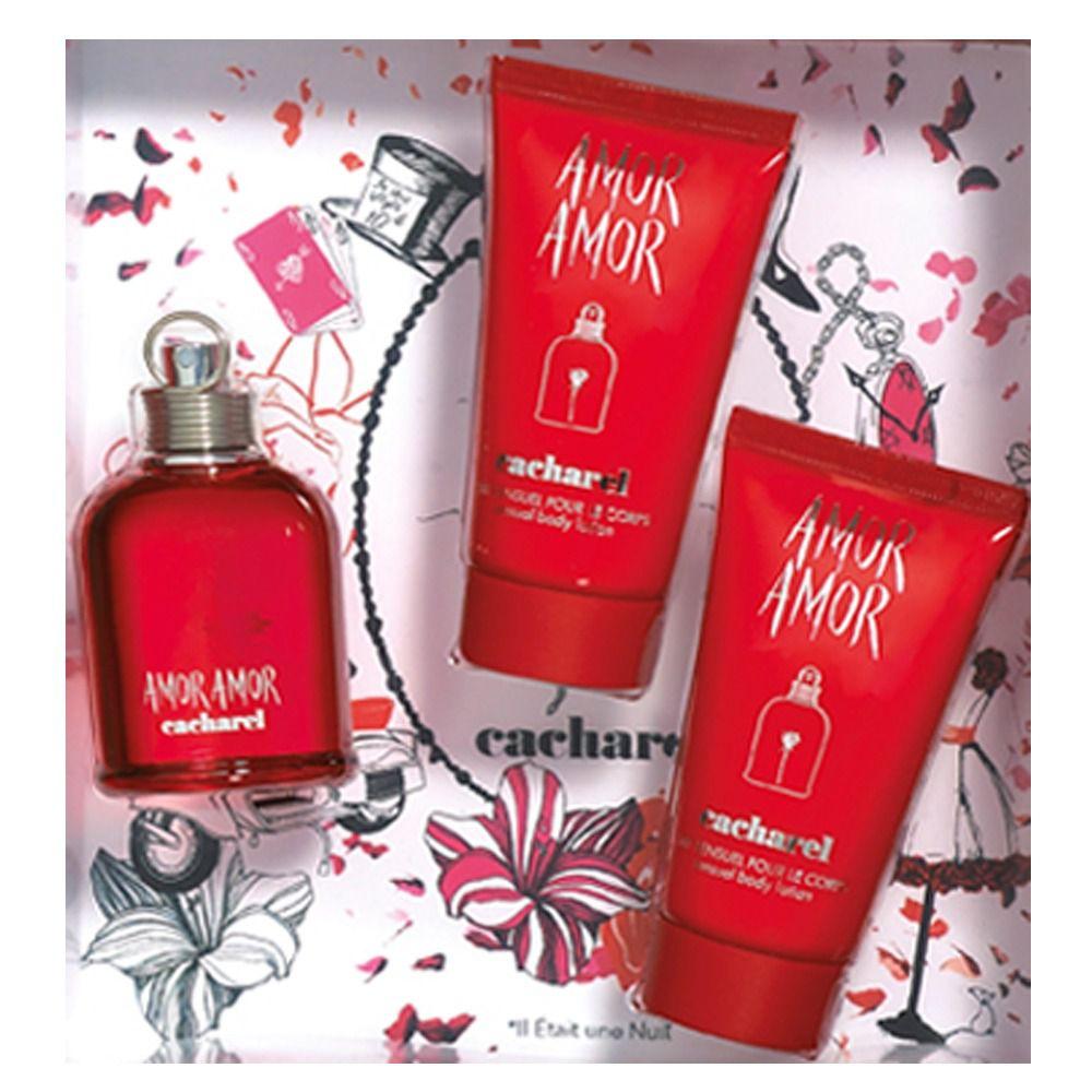 b09abb14f Kit Perfume Amor Amor Edt 50ml + 02 Loções Hidratantes 50ml - Cacharel