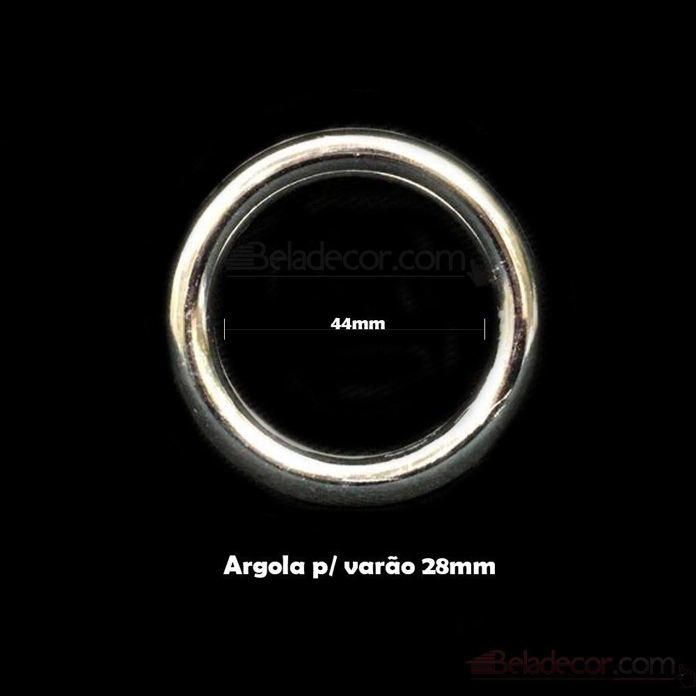 ARGOLA CORTINA KIT COM 10 UNIDADES 28MM