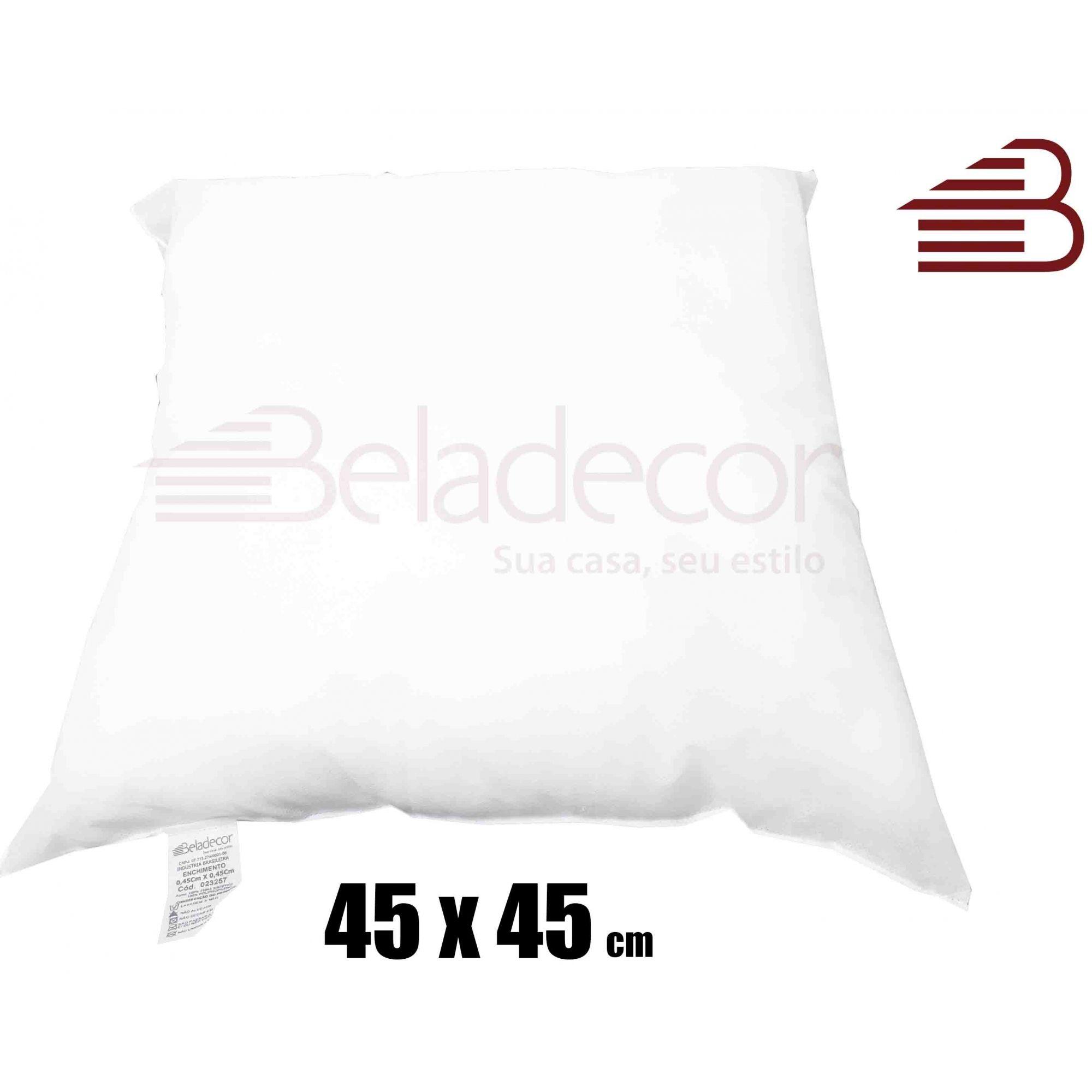 KIT 2 CAPAS DE ALMOFADA SOFISTICATTA + 2 ENCHIMENTOS 45X45