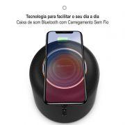 Caixa de Som Bluetooth e Carregador Sem Fio Baseus Encok E50
