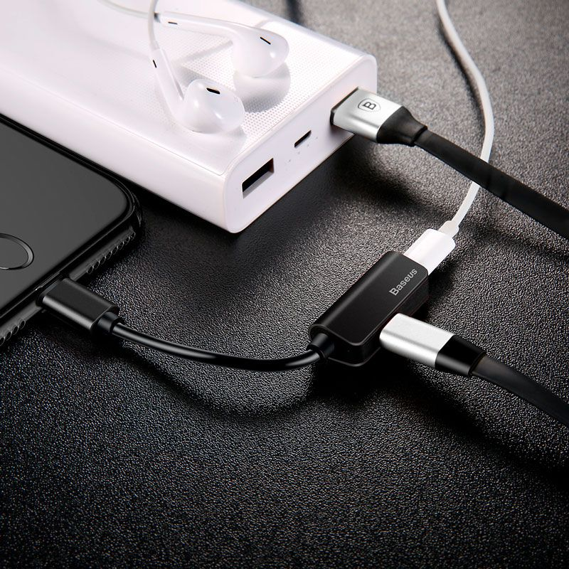 Adaptador L37 Lightning Duplo (Áudio + Carga)