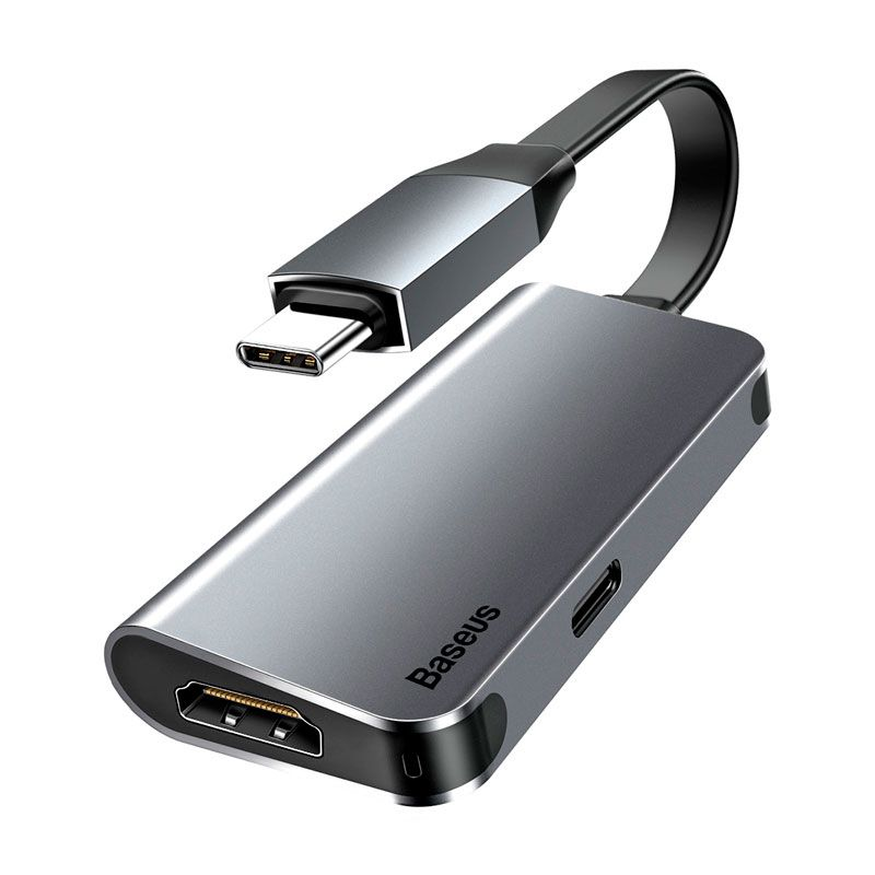 Adaptador Type-C para HDMI 4K + Type-C Baseus Little Box