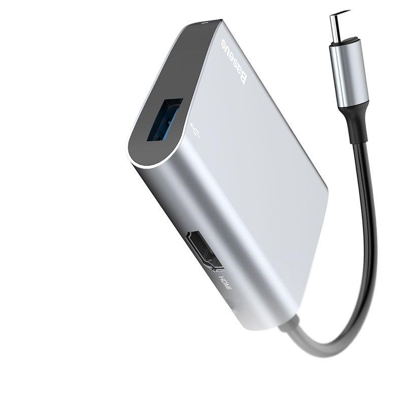Adaptador Type-C para HDMI + USB 3.0 Baseus Enjoyment Series