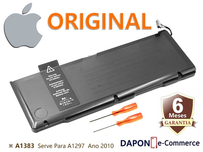 "Bateria Original Apple Modelo A1383 para MacBook Pro 17"" A1297 (Early 2011 - Late 2011)"
