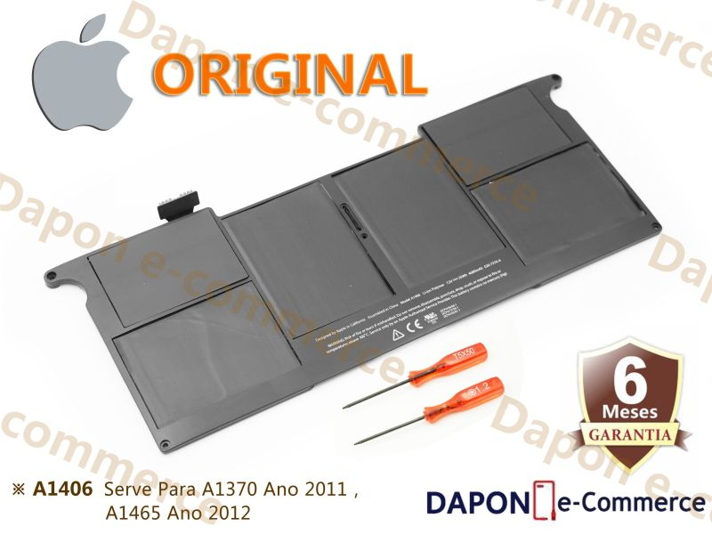 "Bateria Original Apple Modelo A1406 para MacBook Air 11"" (2011 - 2015)"