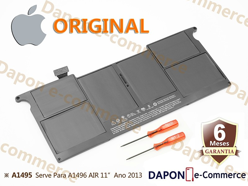Bateria Original Apple Modelo A1495 para MacBook Air 11