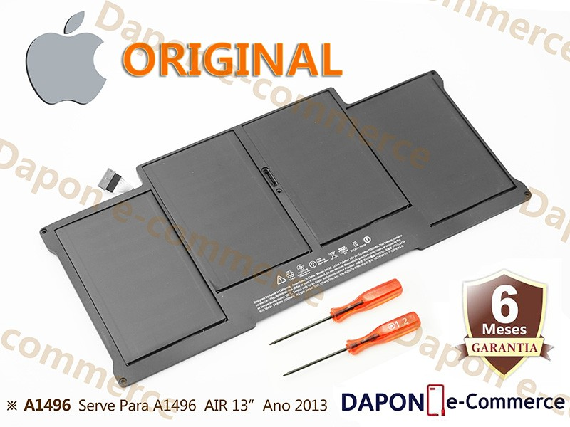 """Bateria Original Apple Modelo A1496 para MacBook Air 13"""" (Late 2010 - 2017)"""