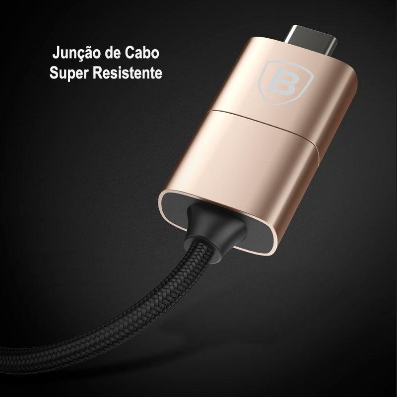Cabo Multifuncional 5N1 Baseus (Type-C / Lightning / USB e Entrada Micro USB)