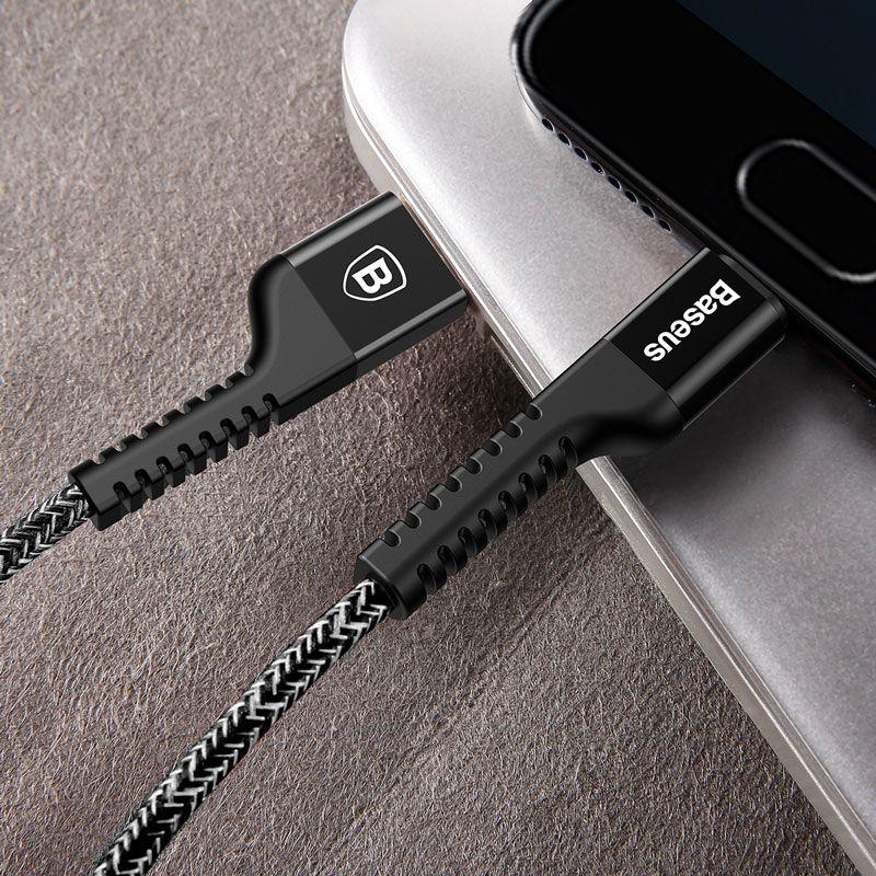 Cabo USB Type-C Baseus Confidant 2A e 1,5M Para Samsung S8/S8 Plus, Note 8