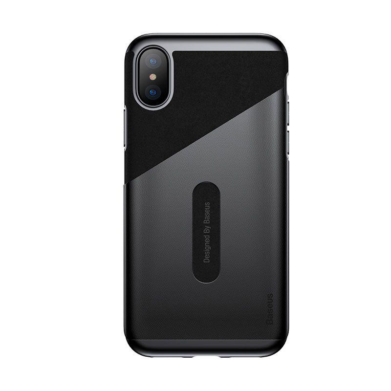 Capa Com Porta Cartões para iPhone X Baseus Card Pocket